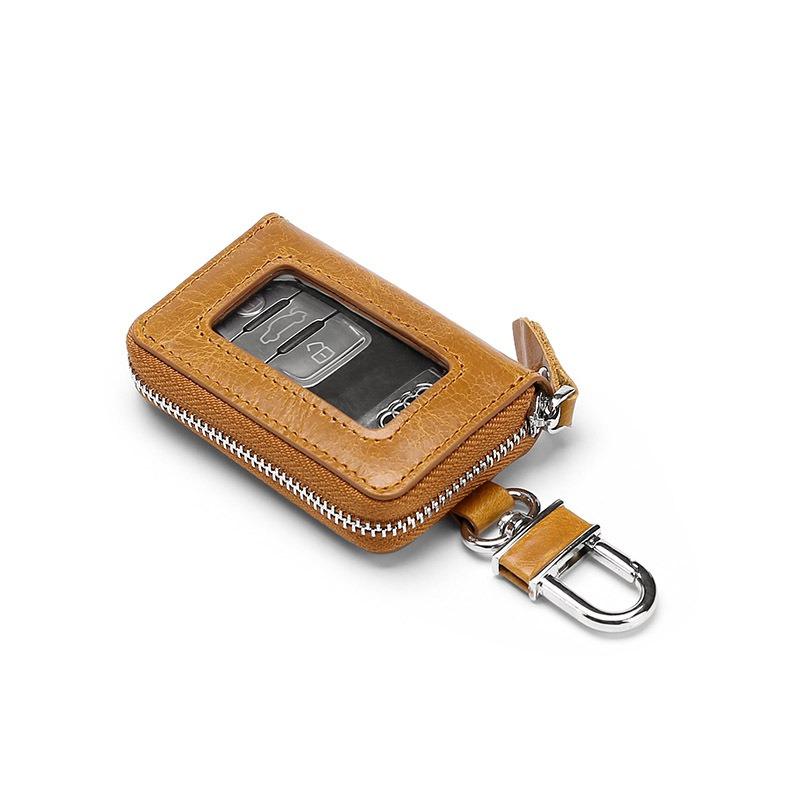 Men Vintage Cow Leather Car Key Case Holder