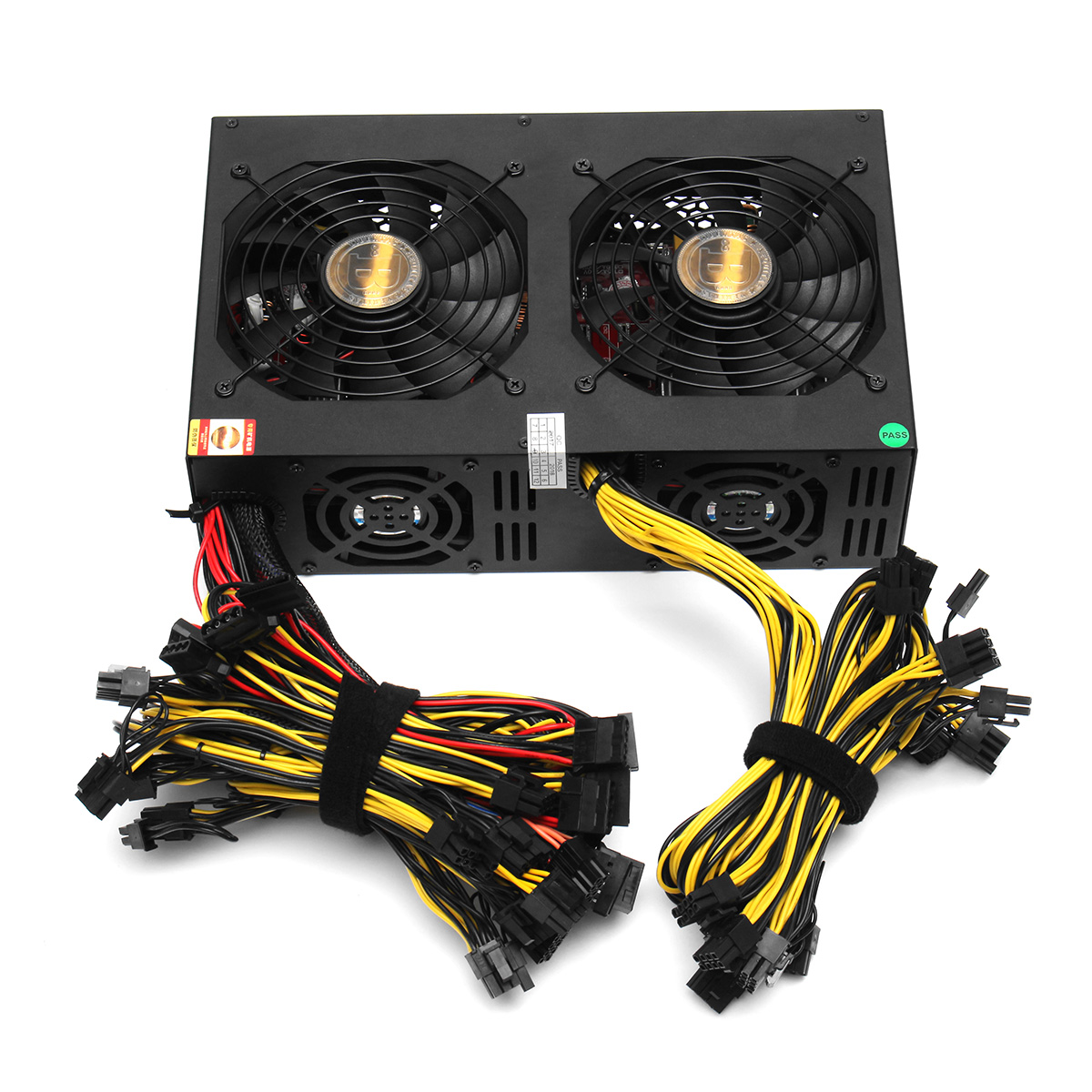 3450W Miner Power Supply 140mm Cooling Fan ATX 12V Vers
