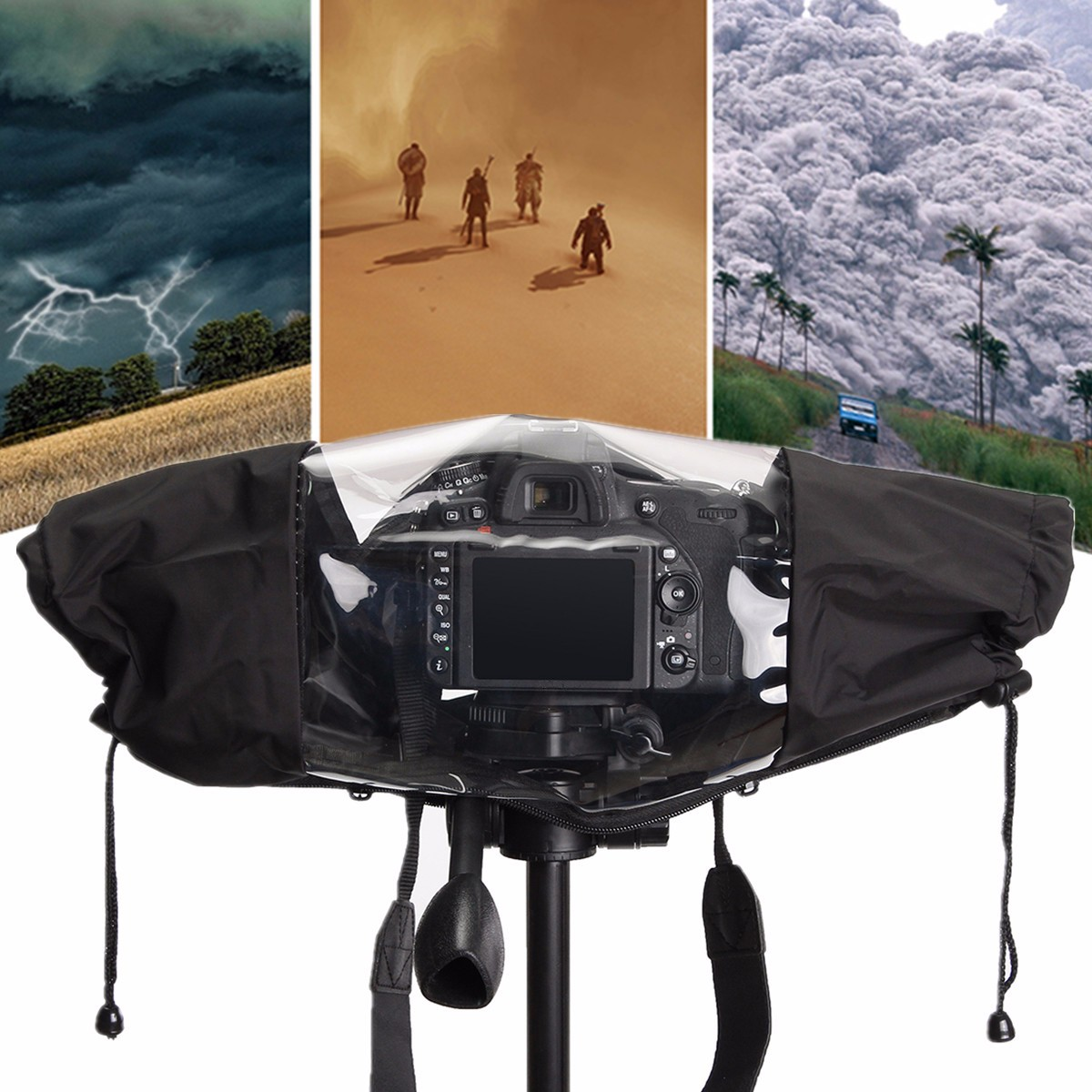 Nylon Rain Cover Waterproof Case Photo Photography Accessories for Canon Nikon Pentax DSLR Camera