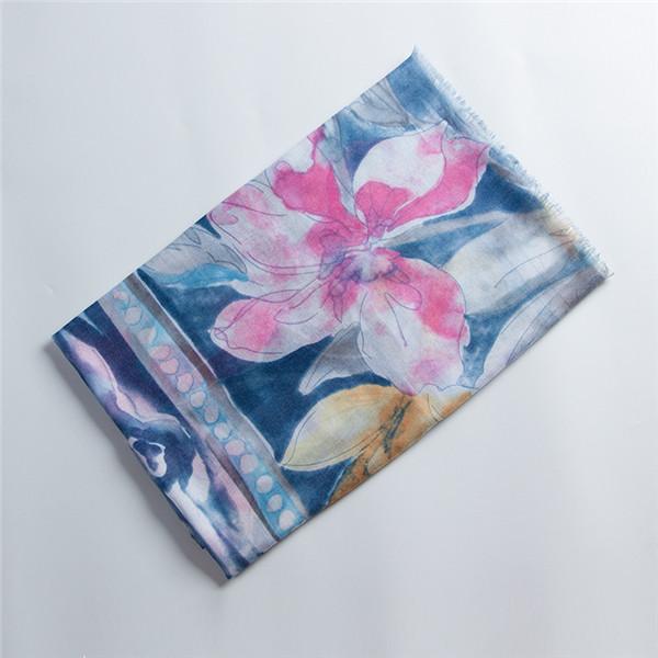 Women Lightweight Printting Scarves Flower Shawl