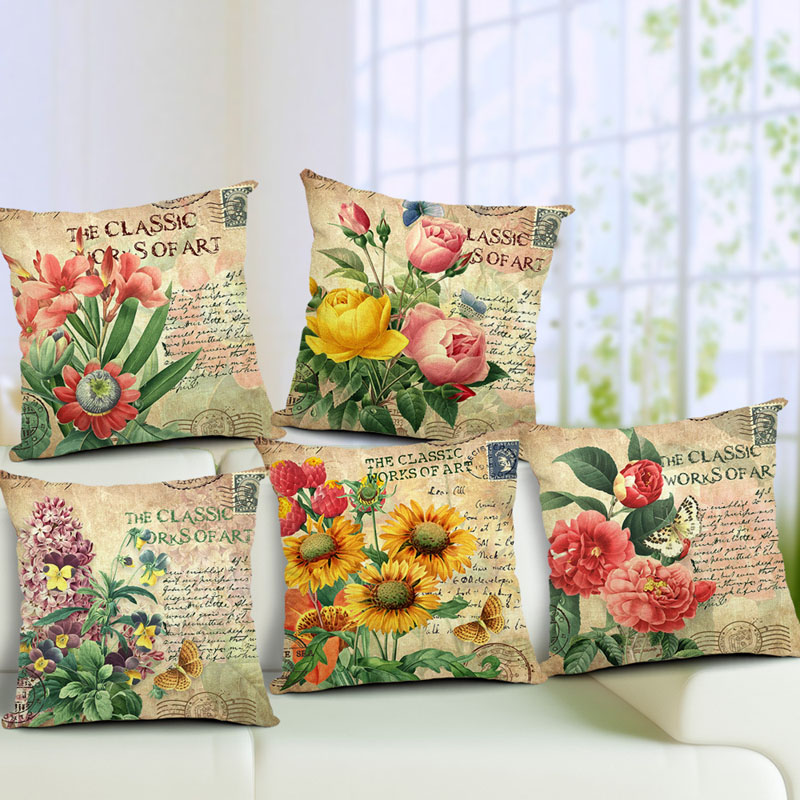 Flowers Pattern Quote Pillow Case Sparkly and Colorful