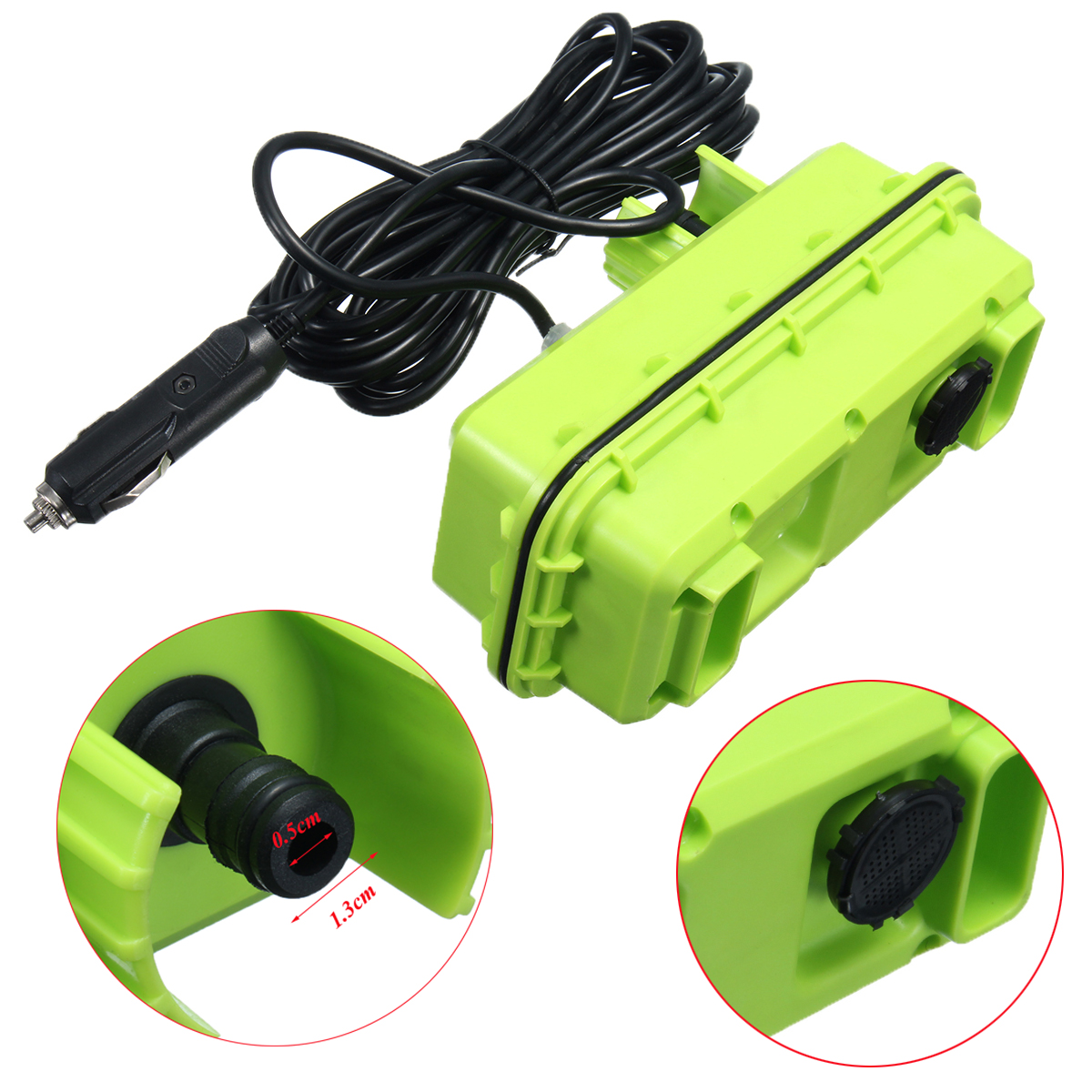 12V 80W Portable High Pressure Washer Spray Gun Electric Car Washer Cleaner Pump