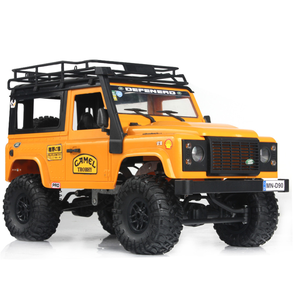 MN-90 1/12 2.4G 4WD Rc Car W/ Front LED Light 2 Body Shell Roof Rack Crawler Monster Truck RTR Toy