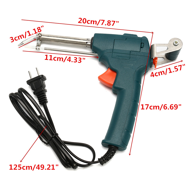220V AC 60W Temperature Solder Gun Iron Auto Welding Electric Soldering Tools Kit