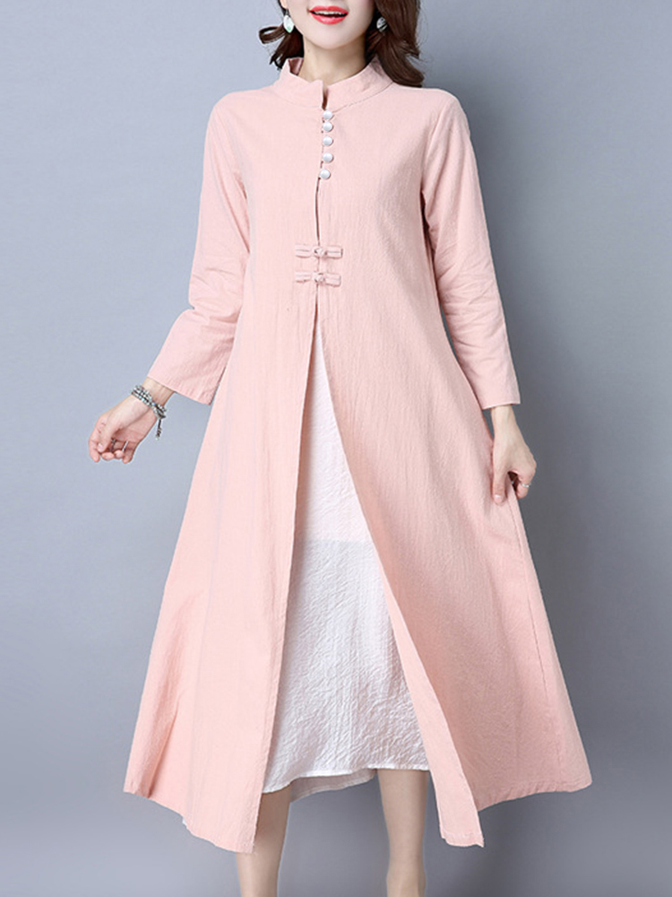 Gracila 2pcs Suit Women Vintage Cardigan and Dress