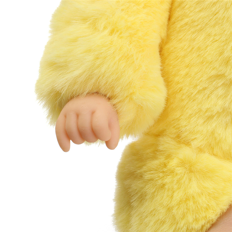 25cm Cute Duck Clothes Newborn Sleeping Soft Vinyl Reborn Baby Doll Gift Toy