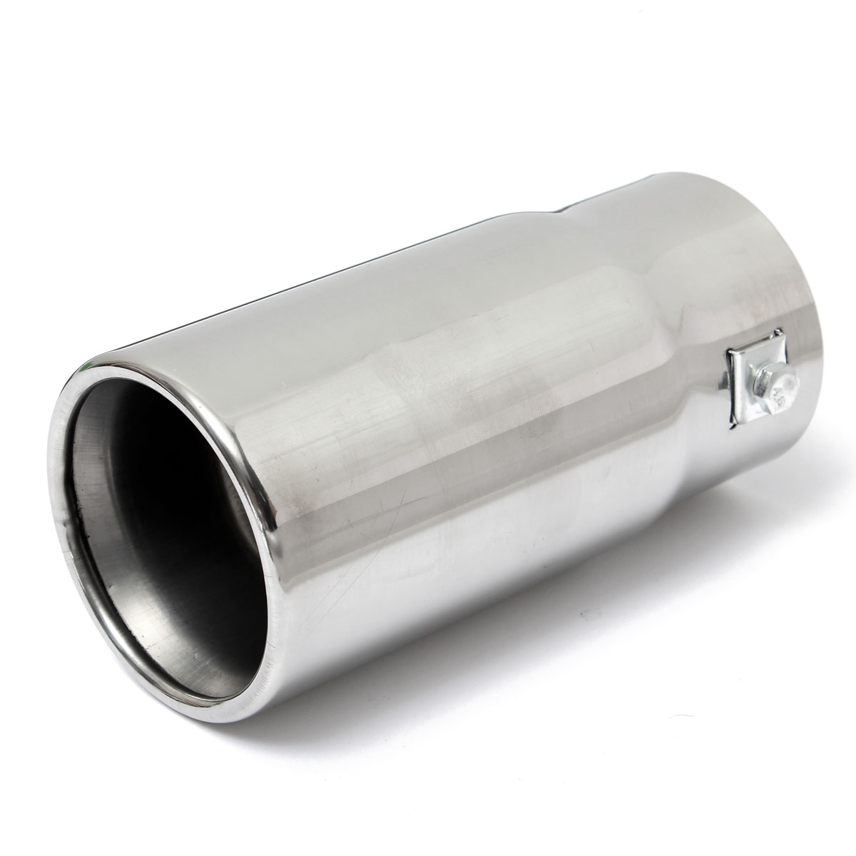 Round Universal Fits Car Stainless Steel Exhaust Tailpipe Tip Muffler Chrome