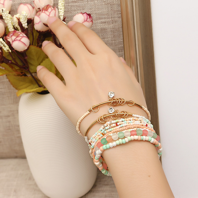 Bohemian Bracelet Rhinestone Beads Multilayer Bracelets for Women