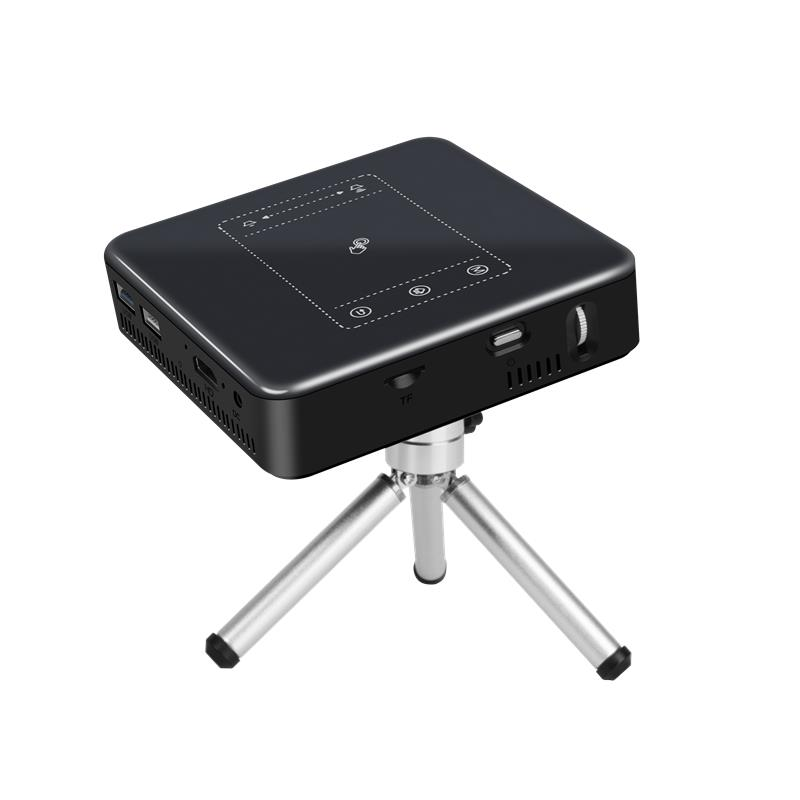 D13 DLP LED Portable Projector Android 7.1.2 150ANSI Lumen WIFI 2G/16G HD Theater Office Supplies