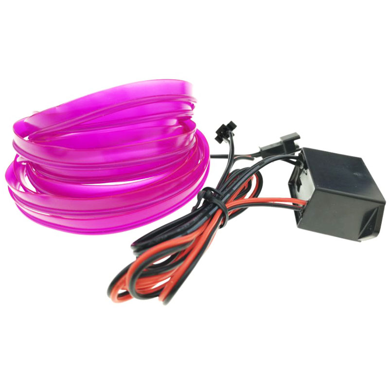 5M 8MM Width Flexible Neon Rope Tube LED Strip Light for Dance Party Car Decor with DC12V Driver