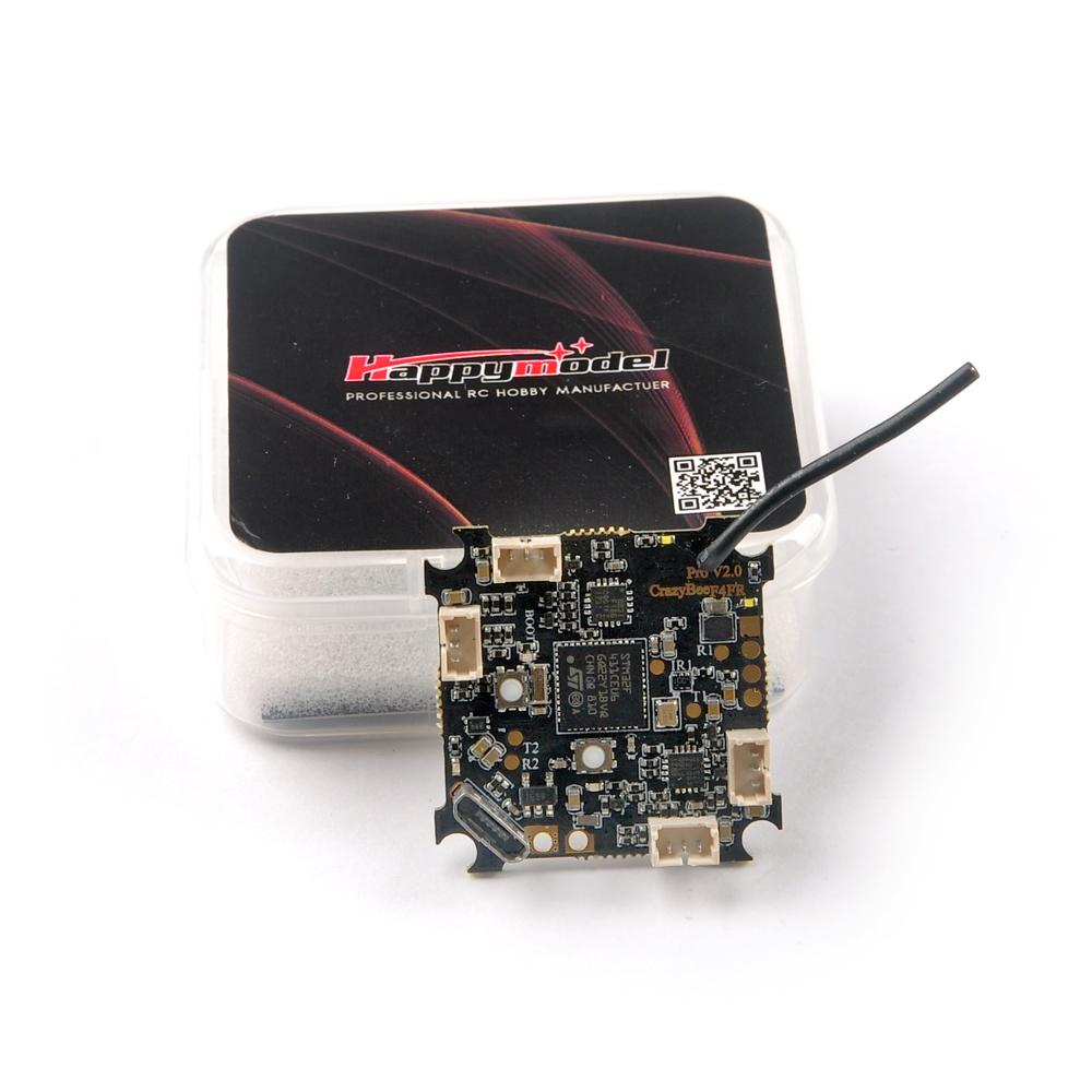 Happymodel Crazybee F4 Pro V2.0 Mobula7 HD 1-3S Flight Controller w/ 5A ESC & Compatible Flysky/Frsky/DSMX Receiver