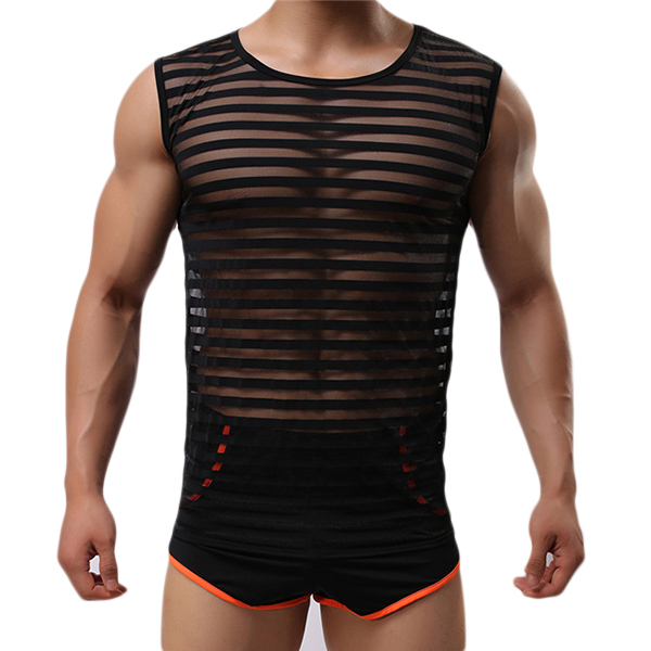 Image of Fashion Casual Herren Sport Breathable Bodybuilding Sleeveless Fitness Weste Low Slits Tank Tops