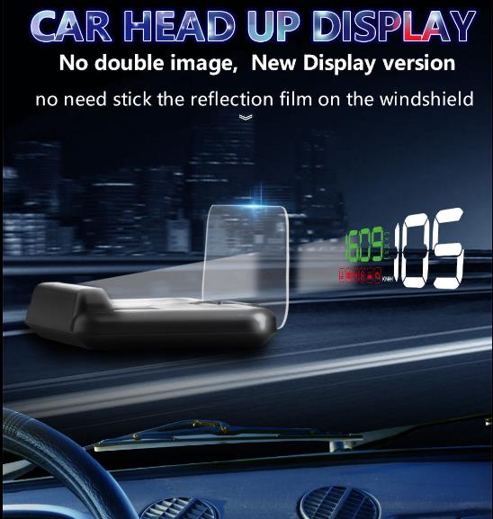 Universal Car HUD Head Up Display C500 HUD Speedmeter Speed Warning Mirror Auto OBD2