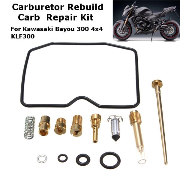 Motorcycel Carburetor Carb Rebuild Kit For Kawasaki Bayou 300 4x4 1989-2004 KLF300