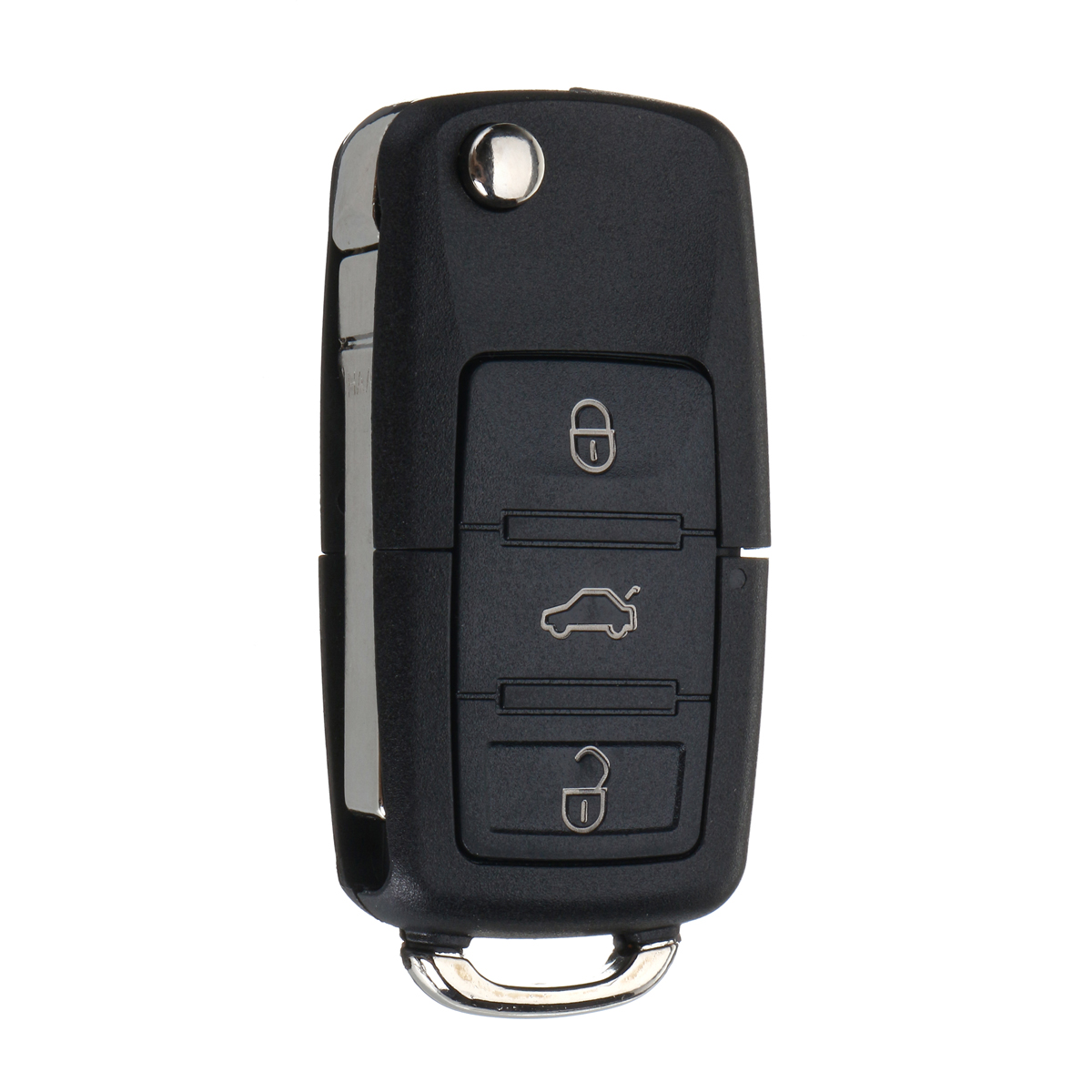 3 Buttons FOB Remote Key Case Shell w/ Battery CR2032 For VW