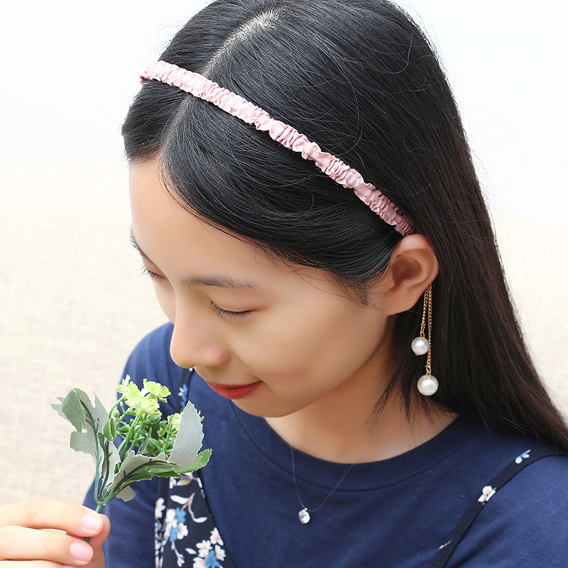 Sweet Women Hair Band Elegant Asymmetric Pearl Flower Pendant Headbrand Hair Accessories