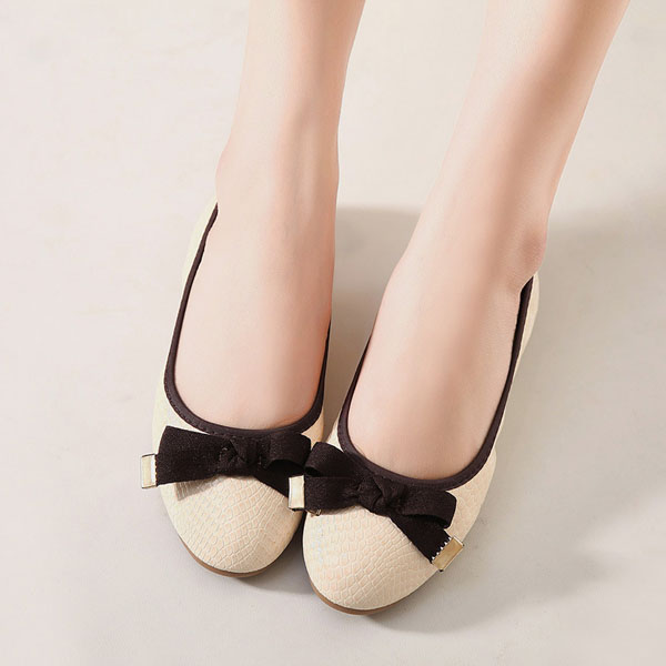 Comfy Soft Foldable Ballet Flats Bowknot Soft Sole Driving Slip-ons
