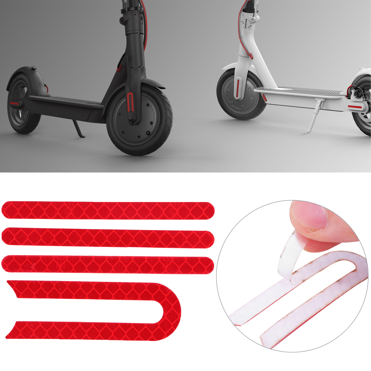 Front And Rear Wheel Rubber Reflective Sticker For Xiaomi Mijia M365 E-Scooter