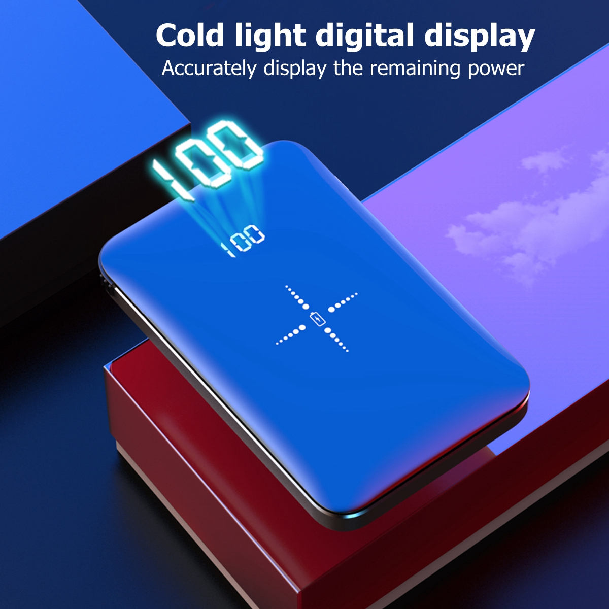 QiWireless10000mAh Wireless Charger MiniPower Bank Portable Battery Charger for iPhone Android