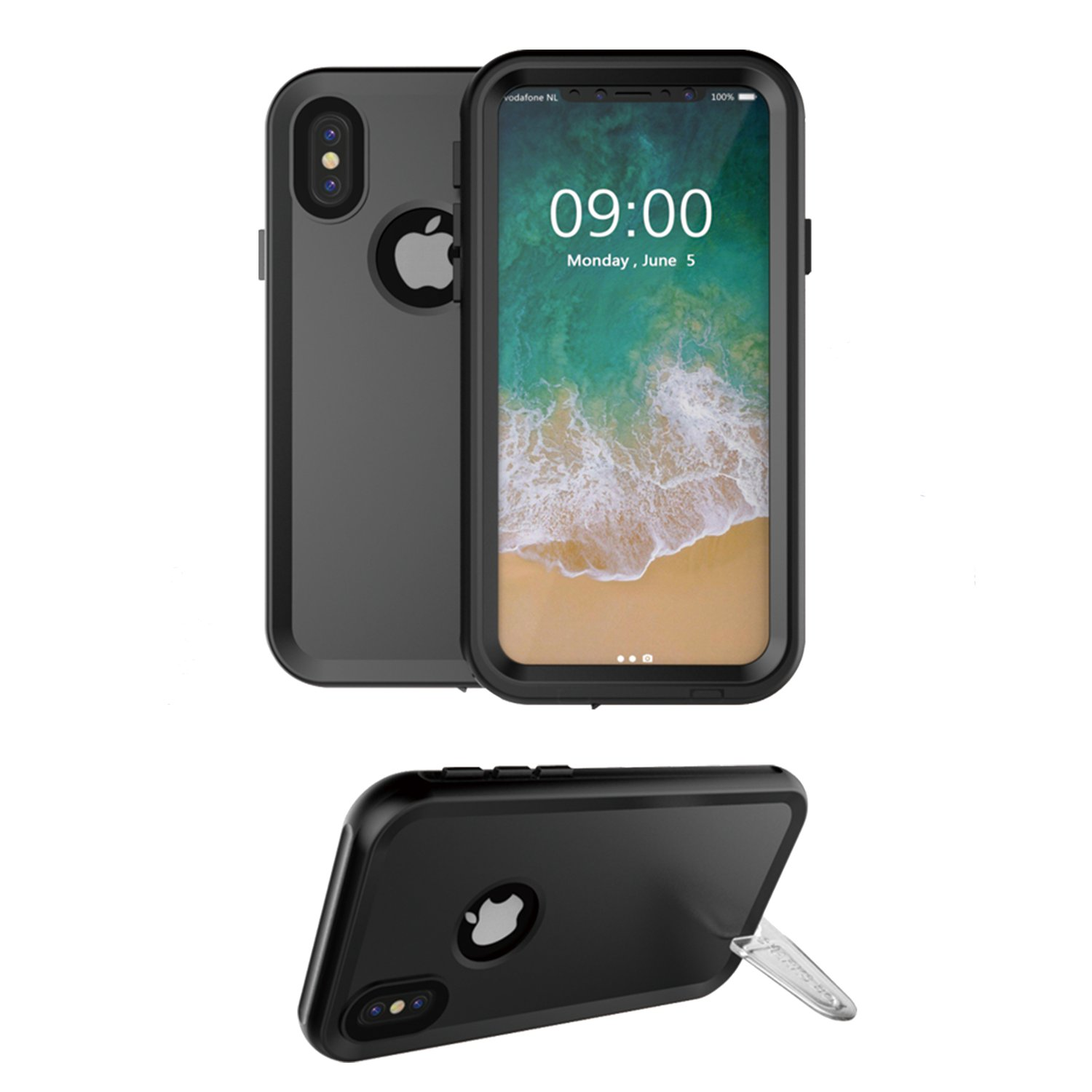 C-KU IP68 Waterproof Case With Kickstand For iPhone X U