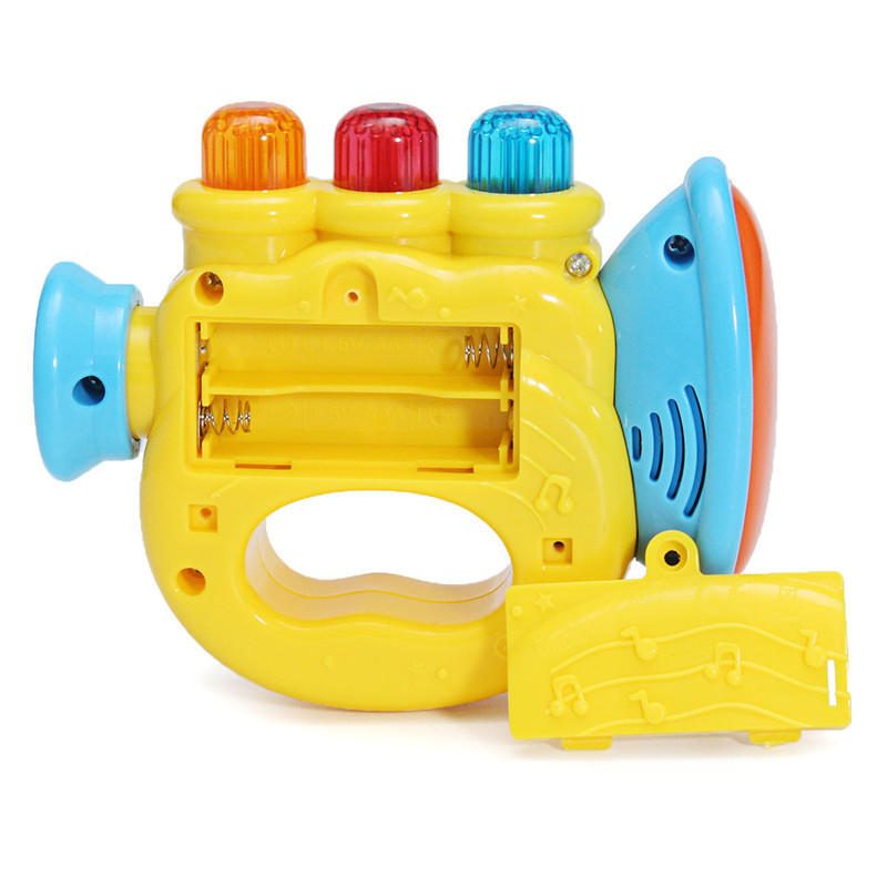 Plastic Baby Magic Music Horn Kids Story Music Instruments Children LED Toy
