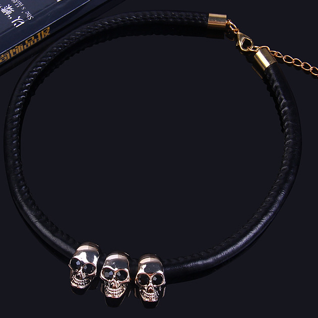 Creative Skull Alloy Collar Sweater Chain Collar Necklaces