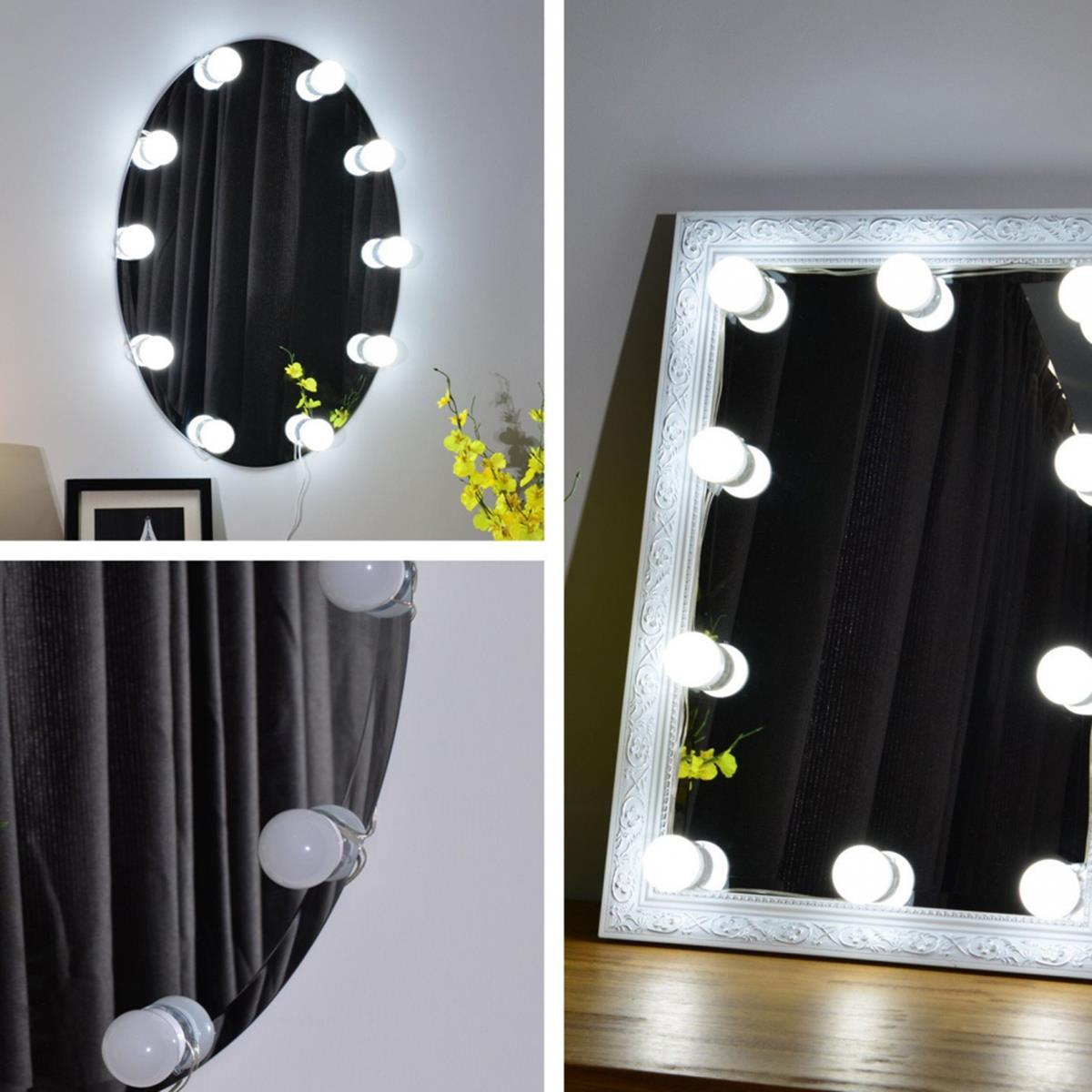 3m Dimmable Hollywood Style Yellow White Led Vanity Mirror Lights