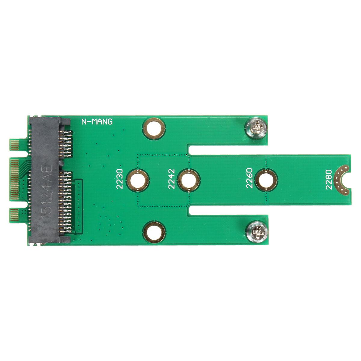 Micro SATA mSATA to M.2 NGFF B-Key SSD Adapter Hard Drive Converter Card