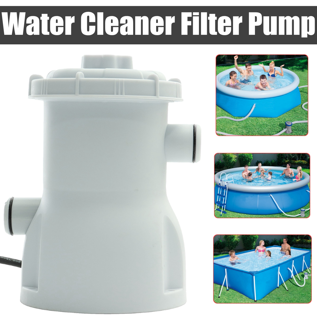 220V Electric Filter Pump Swimming Pool Filter Pump Water Clean Clear Dirty Pool Pond Pumps