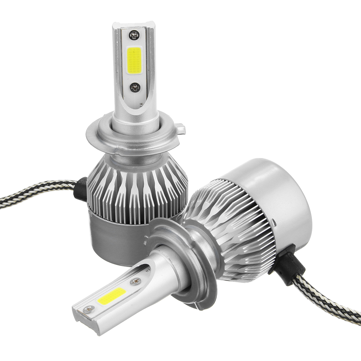 Banggood price history to Pair C6 72W 7600LM 6000k-6500K White IP68 COB Car LED Headlights Lamp Bulb H1 H3 H7 H8/9/11 9005/6