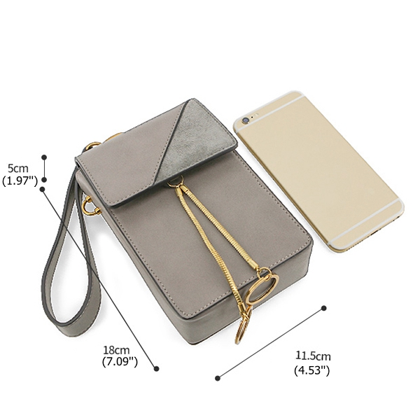 Women Stylish 5.5inch Phone Bag Flap Shoulder Bag