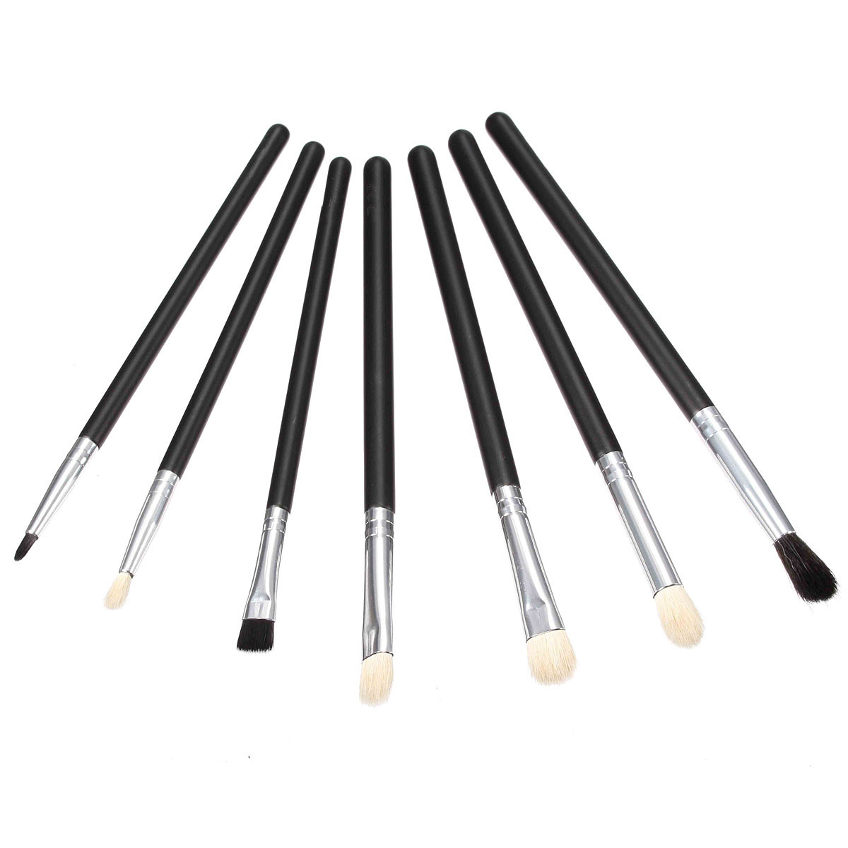 7pcs Eye Shadow Powder Brush Shaping Accurate Eyeliner Brow Makeup Brush Cosmetics Tools Kit