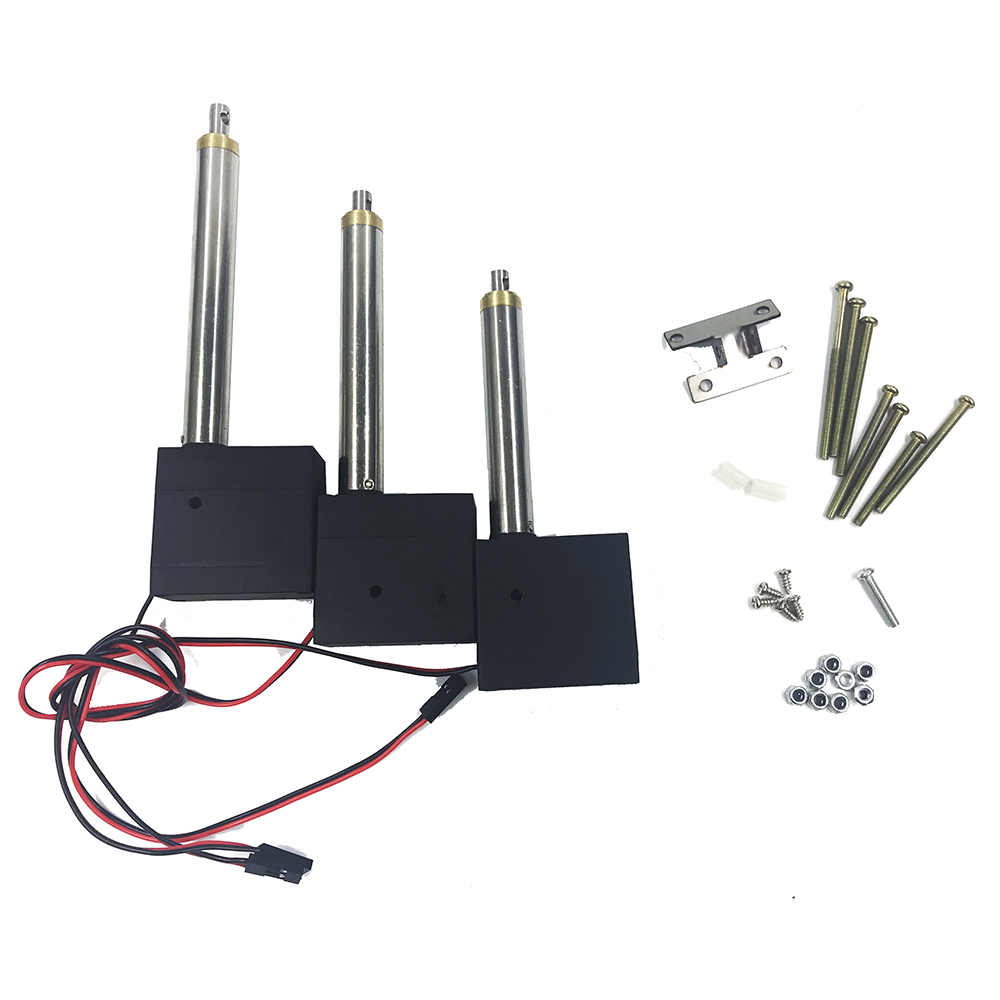 Huina Plastic Strength Main Arm Second Arm Bucket Arm Driving Rod With Servo For 550 RC Excavator RC Car Parts - Photo: 3