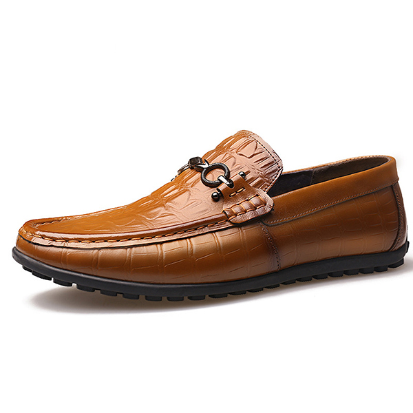 Men Morden Style Genuine Leather Driving Flats