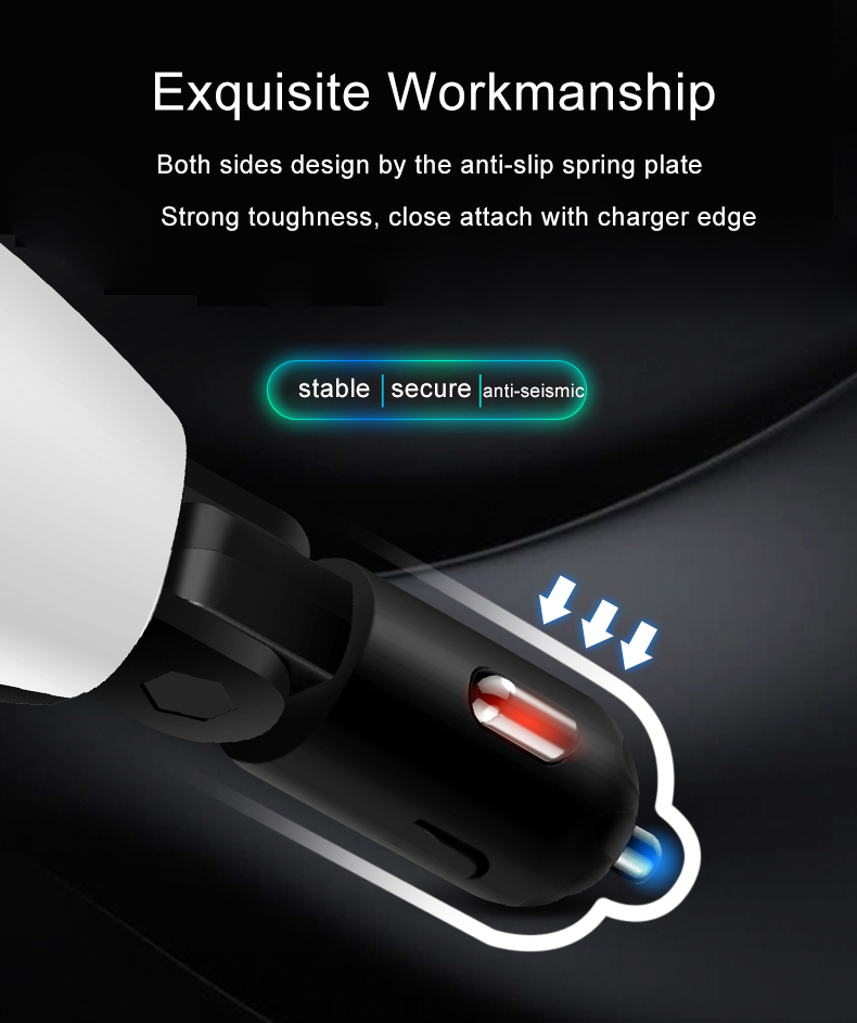 Bakeey 3.1A Dual USB Adjustable Fast Car Car Charger With LED Display For Mobile Phone Tablet Camera