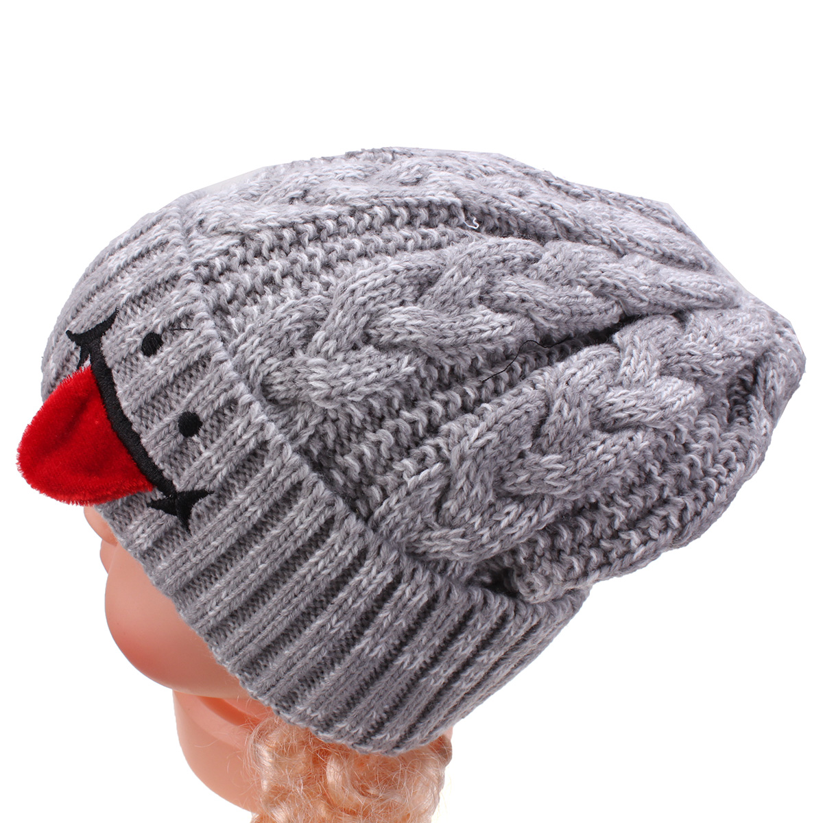 Children Kids Knit Wool Cap Boy Girl Baby Winter Warm Cute Hat