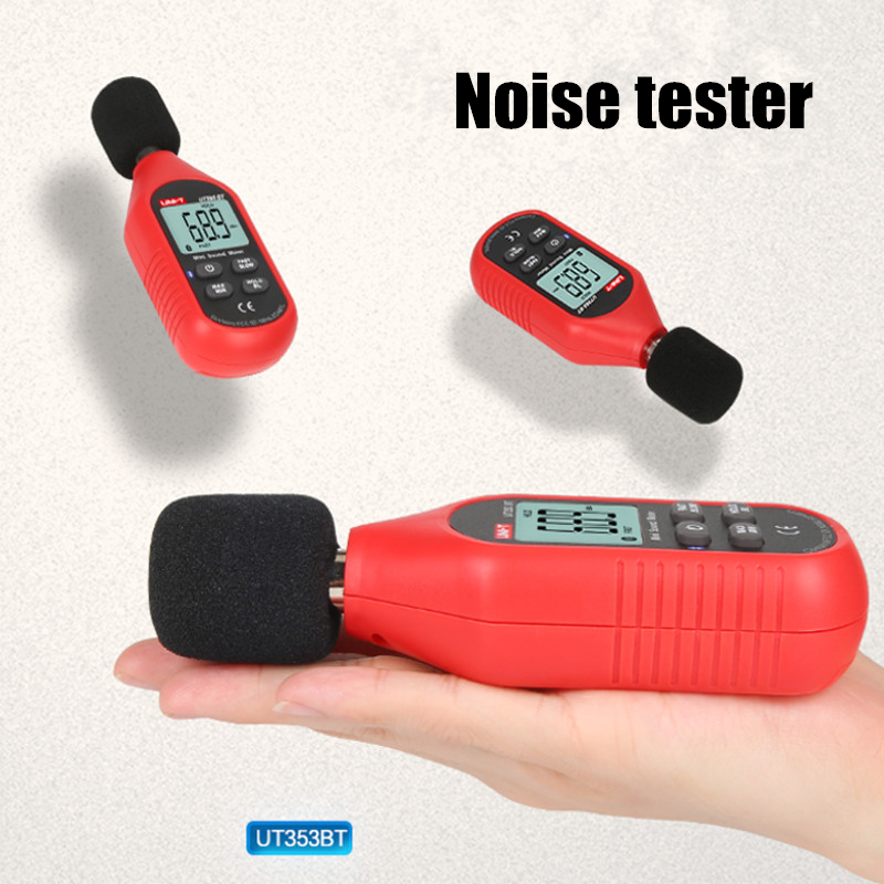 UNI-T UT353BT bluetooth Sound Level Meter Digital Noise Tester 30-130dB Decibel Monitoring Sound Level Meter