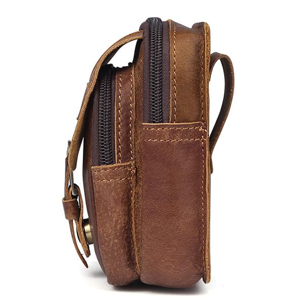 Vintage Genuine Leather Casual Multi-functional Waist Bag