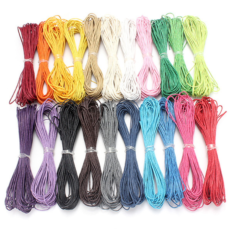 DIY Jewelry String Waxed Cotton Cords Craft Bead Jewelry Nec