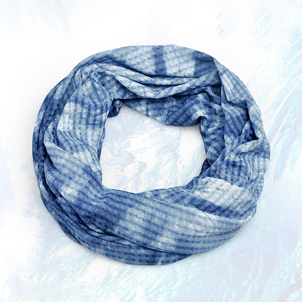 Women Thin Breathable Tie-dyed Beanies Cap Dual Use Casual Hat and Scarf
