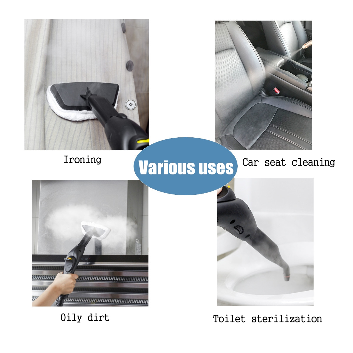 220V High Pressure Multifunctional Handheld Mop Floor Steam Cleaner Cleaning Home Car Wash Brush