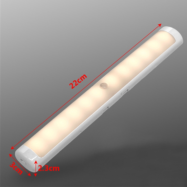 Battery Powered LED Smart PIR Human Body Induction Motion Sensor Night Light for Cabinet Wardrobe