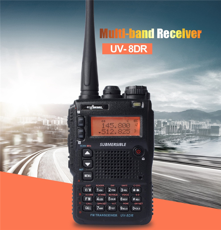 Zastone UV-8DR VHF 136-174MHz UHF 400-520MHz CB Ham Radio 128 Channel Two Way Radio Walkie Talkie
