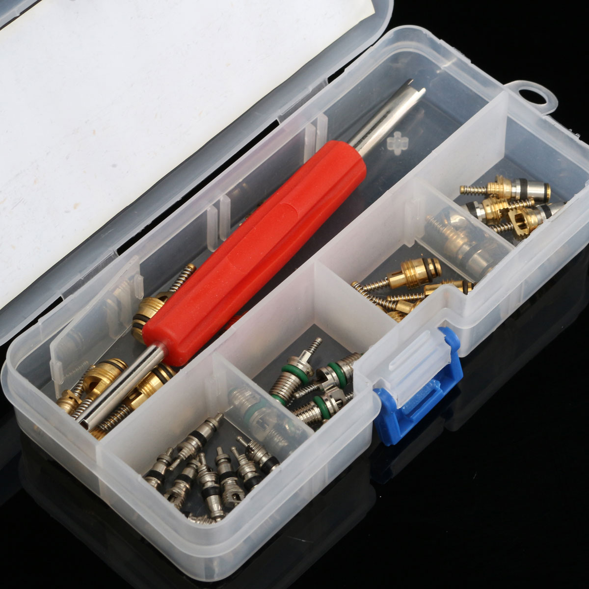 Car R12 R134a AC Air Conditioning Valve Core 35 Pcs Assortment Remover Tool