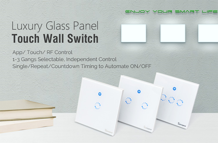 sonoff® t1 uk 1-3 gang ac 90v-250v 600w wifi and rf 86 type smart ... 480ca2343