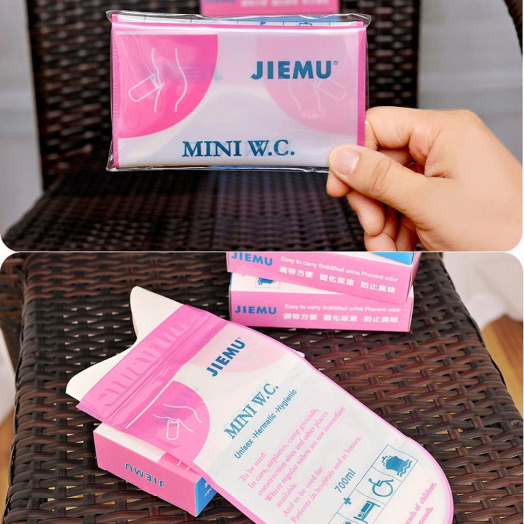 4pcs Pink Disposable 700CC Portable Urine Storage Bag Emergency Toilet Outdoor Travel For Unisex