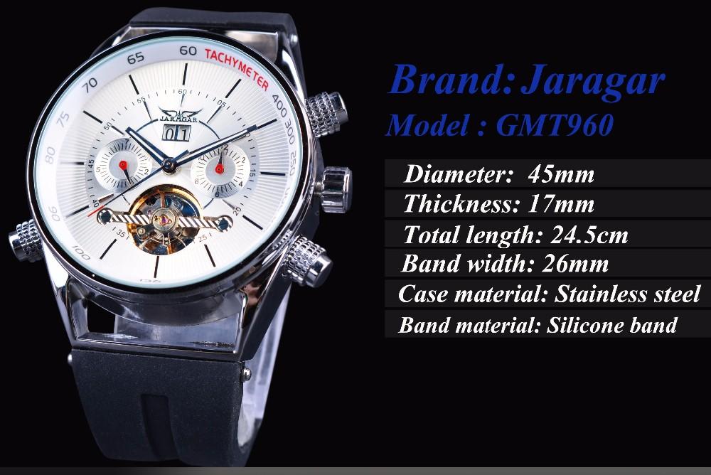 JARAGAR GMT960 Calendar Automatic Mechanical Watches