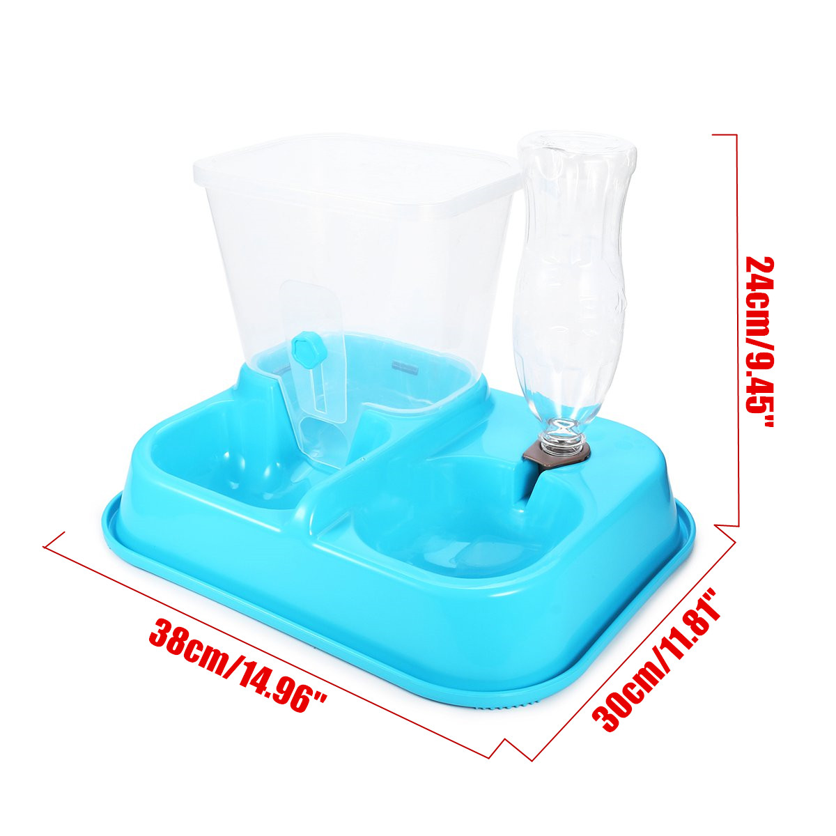 2 in 1 Automatic Pet Food Drink Dispenser Dog Cat Feeder Water Station Bowl Dish Beverage Dispenser