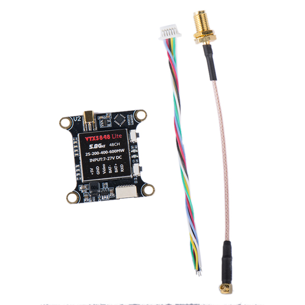 VTX5848 LITE 48CH 5.8G 25/100/200/400/600mW Switchable FPV RC Drone VTX Video Transmitter Module OSD Control
