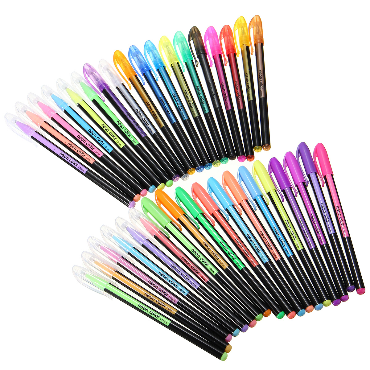 36 Colors Gel Pen Set Adult Coloring Book Ink Pens Drawing Painting Art School Supplies